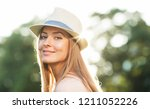 portrait of a happy and... | Shutterstock . vector #1211052226