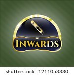 shiny emblem with cutter icon... | Shutterstock .eps vector #1211053330