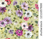 floral vintage greeting... | Shutterstock .eps vector #1211057830