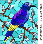 illustration in stained glass...   Shutterstock .eps vector #1211057836
