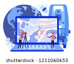 concept cadastral engineers ... | Shutterstock .eps vector #1211060653
