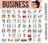 business people set vector.... | Shutterstock .eps vector #1211060809