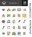 academics filled line icons | Shutterstock .eps vector #1211063746