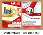 cover brochure layout annual...   Shutterstock .eps vector #1211064550