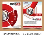 cover brochure layout annual...   Shutterstock .eps vector #1211064580