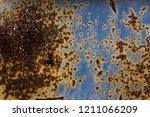 blue texture of rusty metal ... | Shutterstock . vector #1211066209