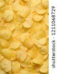 Potato Chips Texture Backgroun...