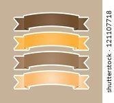 set of ribbons speech vector... | Shutterstock .eps vector #121107718