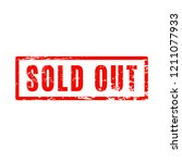 sold out red square grunge... | Shutterstock .eps vector #1211077933