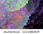 low poly mosaic background.... | Shutterstock .eps vector #1211080429