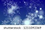 falling snowflakes on christmas ...   Shutterstock .eps vector #1211092369