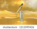 beauty product  gold cosmetic... | Shutterstock .eps vector #1211095426
