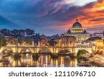view on the vatican in rome ... | Shutterstock . vector #1211096710