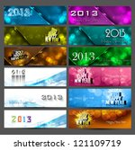 new year 2013 stylish bright... | Shutterstock .eps vector #121109719
