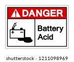 danger battery acid symbol sign ...   Shutterstock .eps vector #1211098969