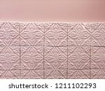 ceramic tile background with... | Shutterstock . vector #1211102293