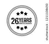 26 years anniversary...   Shutterstock .eps vector #1211108650