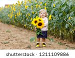 cute adorable toddler girl on...   Shutterstock . vector #1211109886