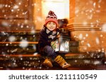 Little Cute Kid Boy With With ...