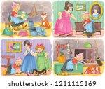 cinderella. fairy tale.... | Shutterstock . vector #1211115169