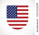 american flag vector icon. the... | Shutterstock .eps vector #1211122339