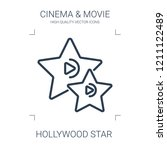 hollywood star icon. high... | Shutterstock .eps vector #1211122489
