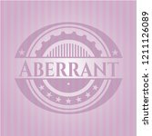 aberrant badge with pink... | Shutterstock .eps vector #1211126089