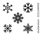 set of black snowflakes icons.... | Shutterstock .eps vector #1211140453