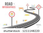 road way infographics signs... | Shutterstock .eps vector #1211148220