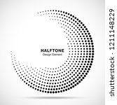 halftone circle abstract frame. ... | Shutterstock .eps vector #1211148229