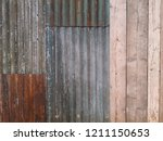 brown rust and zinc iron and... | Shutterstock . vector #1211150653