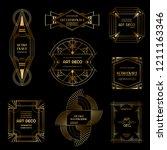set of art deco borders and... | Shutterstock .eps vector #1211163346