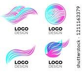 vector logo design elements set.... | Shutterstock .eps vector #1211163379