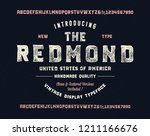 retro styled decorative  font.... | Shutterstock .eps vector #1211166676