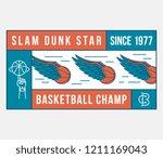 basketball champ is a vector... | Shutterstock .eps vector #1211169043