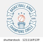 basketball kings is a vector... | Shutterstock .eps vector #1211169139
