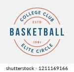 basketball college club circle... | Shutterstock .eps vector #1211169166