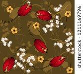 blooming  flowers. realistic... | Shutterstock .eps vector #1211169796
