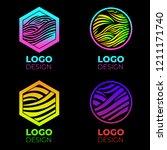vector logo design elements set.... | Shutterstock .eps vector #1211171740