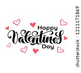 Stock vector valentine s day hand drawn typography brush lettering quote happy valentine s day for 1211171869