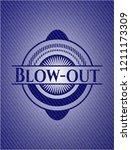 blow out jean or denim emblem... | Shutterstock .eps vector #1211173309