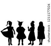 isolated  silhouette group of... | Shutterstock .eps vector #1211177026