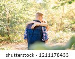 romantic young couple hugging... | Shutterstock . vector #1211178433