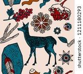 winter seamless pattern ...   Shutterstock .eps vector #1211180293