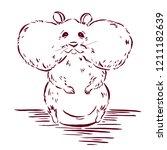 hamster graphic sketch  hamster ... | Shutterstock .eps vector #1211182639