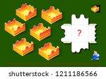 logic puzzle game for children... | Shutterstock .eps vector #1211186566