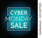 cyber monday sale banner... | Shutterstock .eps vector #1211187520