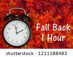 daylight savings time message ... | Shutterstock . vector #1211188483