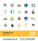 strategy icon set. team... | Shutterstock .eps vector #1211190289