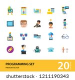 programming icon set. robot... | Shutterstock .eps vector #1211190343
